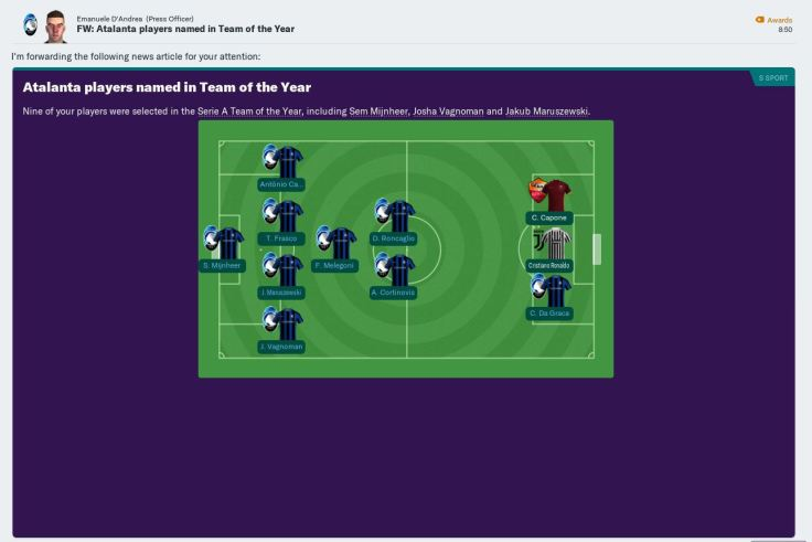 2024 serie a team of the year