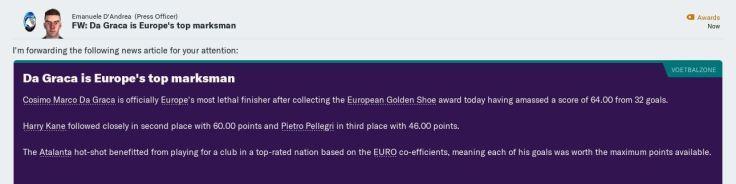 da graca top scorer in europe