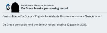 Da Graca braks Serie A record again