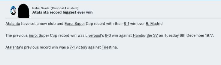 8-1 record win in Super Cup & ata history