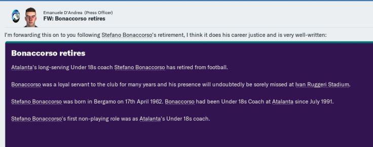 Coach since 1991 retires