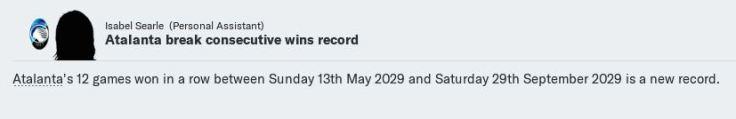 Consecutive wins record