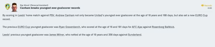 Canham youngest goalscorer Dec 2023