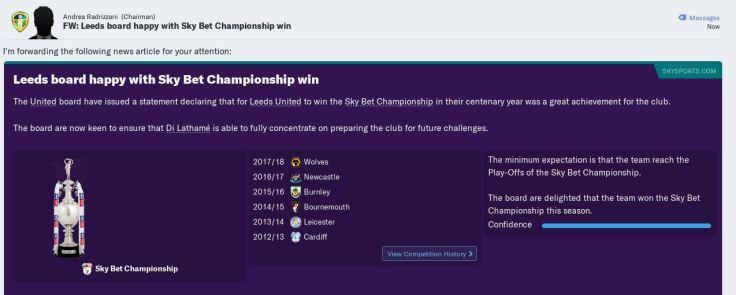 Champions in centenary