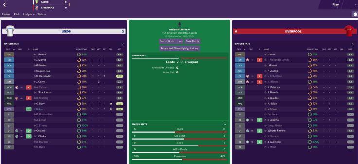 Leeds 2-0 Liverpool