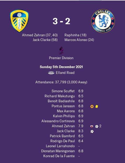 Leeds 3-2 Chelsea