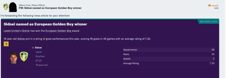 Sidnei Euro Golden Boy